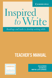 Inspired to Write Teacher's Manual