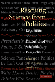 Rescuing Science from Politics
