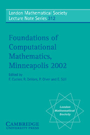 Foundations of Computational Mathematics, Minneapolis 2002