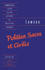 Lawson: Politica sacra et civilis