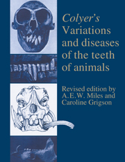 Colyer's Variations and Diseases of the Teeth of Animals