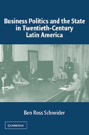 Business Politics and the State in Twentieth-Century Latin America