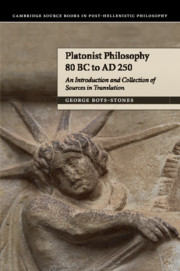 Platonist Philosophy 80 BC to AD 250