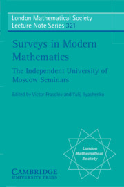 Surveys in Modern Mathematics