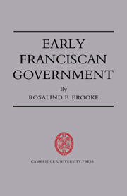 Early Franciscan Government