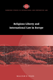 Religious Liberty and International Law in Europe