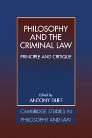 Philosophy and the Criminal Law