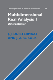 Multidimensional Real Analysis I