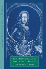 War, Diplomacy and the Rise of Savoy, 1690–1720