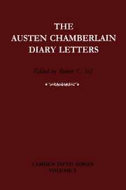 The Austen Chamberlain Diary Letters
