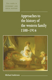 Approaches to the History of the Western Family 1500–1914