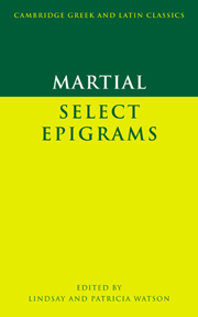 Martial: Select Epigrams