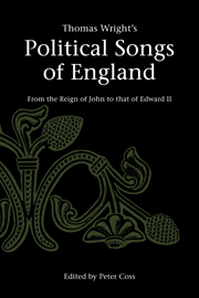 Thomas Wright's Political Songs of England