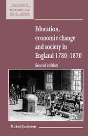 Education, Economic Change and Society in England 1780–1870
