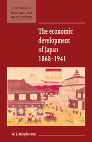 The Economic Development of Japan 1868–1941