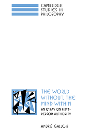 The World Without, the Mind Within