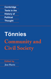 Tönnies: Community and Civil Society