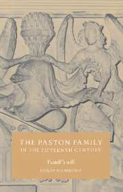 The Paston Family in the Fifteenth Century