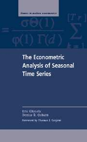 The Econometric Analysis of Seasonal Time Series