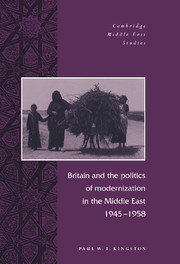 Britain and the Politics of Modernization in the Middle East, 1945–1958