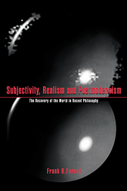 Subjectivity, Realism, and Postmodernism