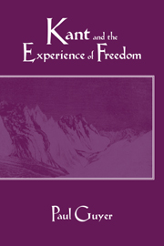 Kant and the Experience of Freedom