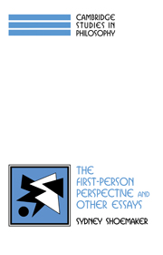 The First-Person Perspective and Other Essays