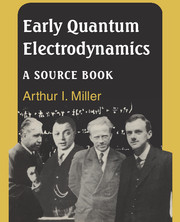 Early Quantum Electrodynamics