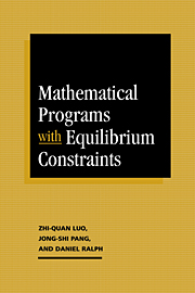 Mathematical Programs with Equilibrium Constraints