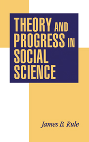 Theory and Progress in Social Science