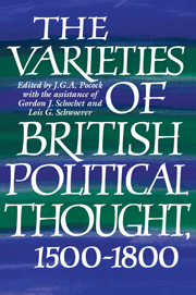 The Varieties of British Political Thought, 1500–1800