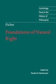 Foundations of Natural Right