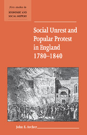 Social Unrest and Popular Protest in England, 1780–1840