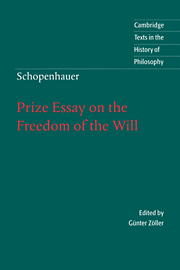 Schopenhauer: Prize Essay on the Freedom of the Will