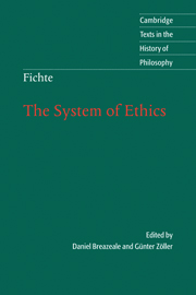 Fichte: The System of Ethics