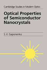 Optical Properties of Semiconductor Nanocrystals