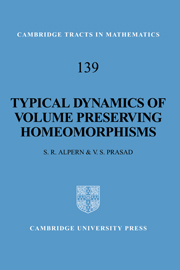 Typical Dynamics of Volume Preserving Homeomorphisms