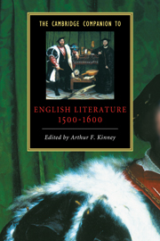 The Cambridge Companion to English Literature, 1500–1600