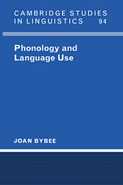 Phonology and Language Use