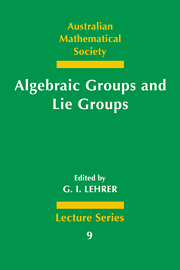 Algebraic Groups and Lie Groups