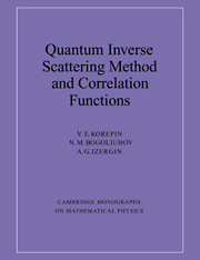 Quantum Inverse Scattering Method and Correlation Functions
