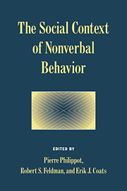 The Social Context of Nonverbal Behavior