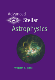 Advanced Stellar Astrophysics