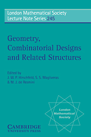 Geometry, Combinatorial Designs and Related Structures