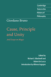 Giordano Bruno: Cause, Principle and Unity