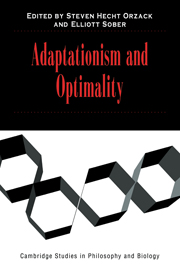Adaptationism and Optimality