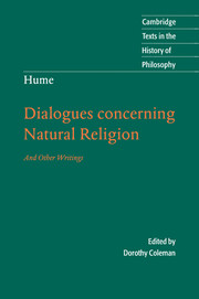 Hume: Dialogues Concerning Natural Religion