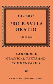 Cicero: Pro P. Sulla oratio