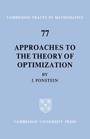 Approaches to the Theory of Optimization