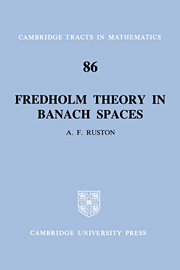 Fredholm Theory in Banach Spaces